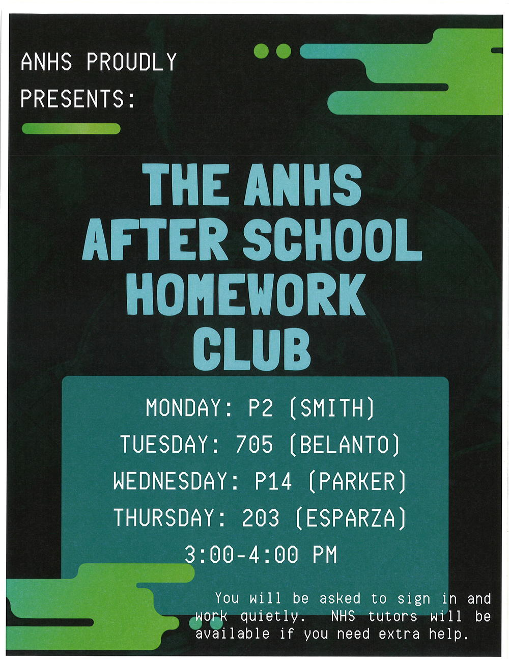 After School Homework Club